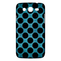 Circles2 Black Marble & Teal Brushed Metal Samsung Galaxy Mega 5 8 I9152 Hardshell Case  by trendistuff