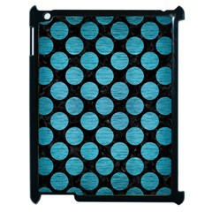 Circles2 Black Marble & Teal Brushed Metal (r) Apple Ipad 2 Case (black) by trendistuff