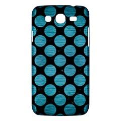Circles2 Black Marble & Teal Brushed Metal (r) Samsung Galaxy Mega 5 8 I9152 Hardshell Case