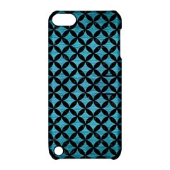 Circles3 Black Marble & Teal Brushed Metal Apple Ipod Touch 5 Hardshell Case With Stand by trendistuff