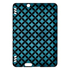 Circles3 Black Marble & Teal Brushed Metal Kindle Fire Hdx Hardshell Case by trendistuff
