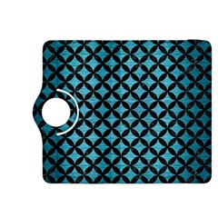 Circles3 Black Marble & Teal Brushed Metal Kindle Fire Hdx 8 9  Flip 360 Case by trendistuff