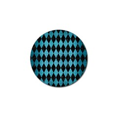 Diamond1 Black Marble & Teal Brushed Metal Golf Ball Marker by trendistuff