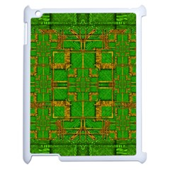Golden Green And  Sunshine Pop Art Apple Ipad 2 Case (white) by pepitasart