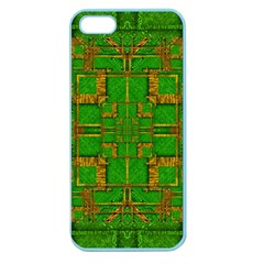 Golden Green And  Sunshine Pop Art Apple Seamless Iphone 5 Case (color) by pepitasart