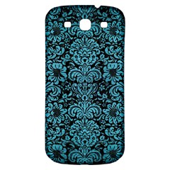 Damask2 Black Marble & Teal Brushed Metal (r) Samsung Galaxy S3 S Iii Classic Hardshell Back Case by trendistuff
