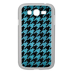 Houndstooth1 Black Marble & Teal Brushed Metal Samsung Galaxy Grand Duos I9082 Case (white) by trendistuff