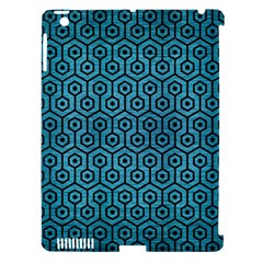 Hexagon1 Black Marble & Teal Brushed Metal Apple Ipad 3/4 Hardshell Case (compatible With Smart Cover) by trendistuff