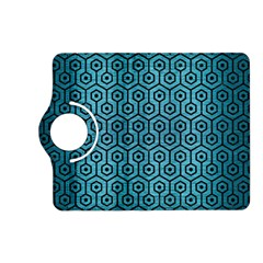 Hexagon1 Black Marble & Teal Brushed Metal Kindle Fire Hd (2013) Flip 360 Case by trendistuff