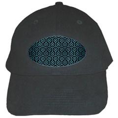 Hexagon1 Black Marble & Teal Brushed Metal (r) Black Cap by trendistuff