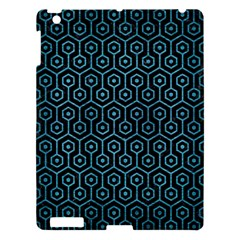 Hexagon1 Black Marble & Teal Brushed Metal (r) Apple Ipad 3/4 Hardshell Case by trendistuff