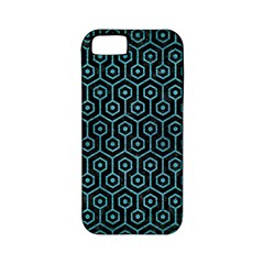 Hexagon1 Black Marble & Teal Brushed Metal (r) Apple Iphone 5 Classic Hardshell Case (pc+silicone) by trendistuff