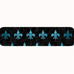 Royal1 Black Marble & Teal Brushed Metal Large Bar Mats