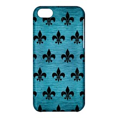 Royal1 Black Marble & Teal Brushed Metal (r) Apple Iphone 5c Hardshell Case by trendistuff