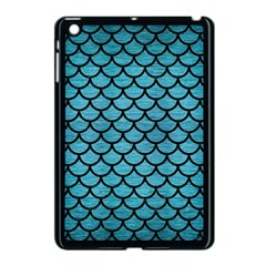Scales1 Black Marble & Teal Brushed Metal Apple Ipad Mini Case (black) by trendistuff