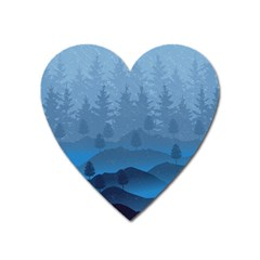 Blue Mountain Heart Magnet by berwies