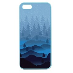 Blue Mountain Apple Seamless Iphone 5 Case (color) by berwies