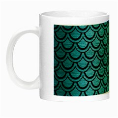 Scales2 Black Marble & Teal Brushed Metal Night Luminous Mugs by trendistuff