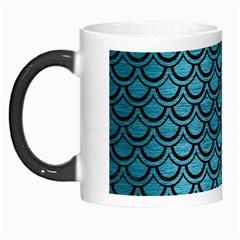 Scales2 Black Marble & Teal Brushed Metal Morph Mugs by trendistuff