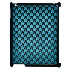 Scales2 Black Marble & Teal Brushed Metal Apple Ipad 2 Case (black) by trendistuff