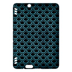 Scales2 Black Marble & Teal Brushed Metal (r) Kindle Fire Hdx Hardshell Case by trendistuff