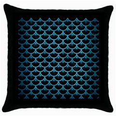 Scales3 Black Marble & Teal Brushed Metal (r) Throw Pillow Case (black) by trendistuff