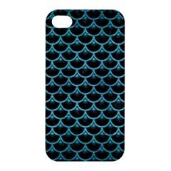 Scales3 Black Marble & Teal Brushed Metal (r) Apple Iphone 4/4s Hardshell Case by trendistuff