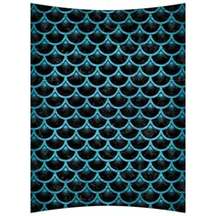 Scales3 Black Marble & Teal Brushed Metal (r) Back Support Cushion by trendistuff