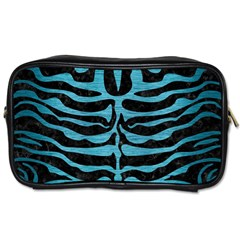 Skin2 Black Marble & Teal Brushed Metal (r) Toiletries Bags 2 Side by trendistuff