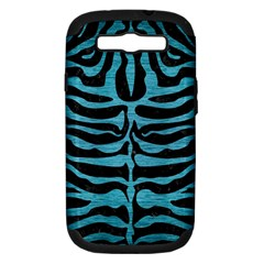 Skin2 Black Marble & Teal Brushed Metal (r) Samsung Galaxy S Iii Hardshell Case (pc+silicone) by trendistuff