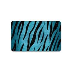 Skin3 Black Marble & Teal Brushed Metal Magnet (name Card) by trendistuff