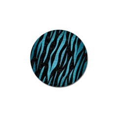 Skin3 Black Marble & Teal Brushed Metal (r) Golf Ball Marker by trendistuff
