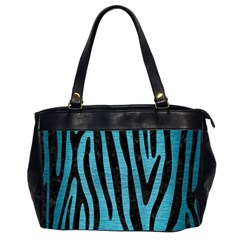 Skin4 Black Marble & Teal Brushed Metal (r) Office Handbags (2 Sides)  by trendistuff