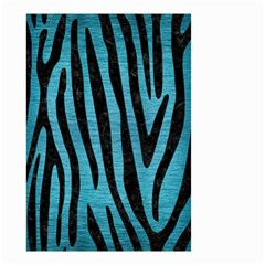 Skin4 Black Marble & Teal Brushed Metal (r) Small Garden Flag (two Sides) by trendistuff