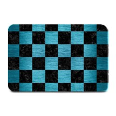 Square1 Black Marble & Teal Brushed Metal Plate Mats by trendistuff