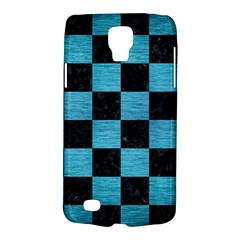 Square1 Black Marble & Teal Brushed Metal Galaxy S4 Active by trendistuff