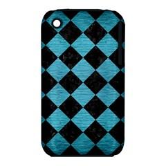 Square2 Black Marble & Teal Brushed Metal Iphone 3s/3gs by trendistuff