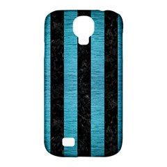 Stripes1 Black Marble & Teal Brushed Metal Samsung Galaxy S4 Classic Hardshell Case (pc+silicone) by trendistuff