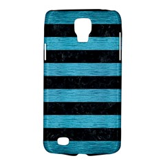 Stripes2 Black Marble & Teal Brushed Metal Galaxy S4 Active by trendistuff