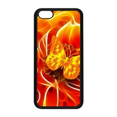 Arrangement Butterfly Aesthetics Orange Background Apple Iphone 5c Seamless Case (black) by Celenk