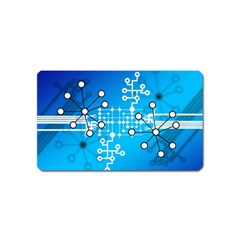 Block Chain Data Records Concept Magnet (name Card) by Celenk