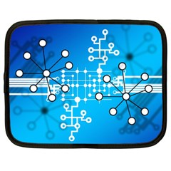 Block Chain Data Records Concept Netbook Case (xxl)  by Celenk