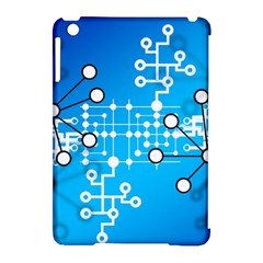 Block Chain Data Records Concept Apple Ipad Mini Hardshell Case (compatible With Smart Cover) by Celenk