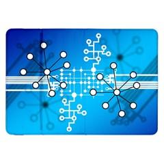 Block Chain Data Records Concept Samsung Galaxy Tab 8 9  P7300 Flip Case by Celenk