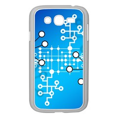 Block Chain Data Records Concept Samsung Galaxy Grand Duos I9082 Case (white) by Celenk