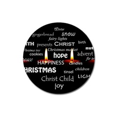 Candles Christmas Advent Light Magnet 3  (round) by Celenk