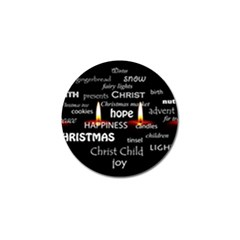 Candles Christmas Advent Light Golf Ball Marker (10 Pack) by Celenk