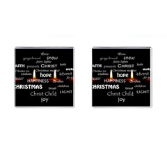 Candles Christmas Advent Light Cufflinks (square) by Celenk
