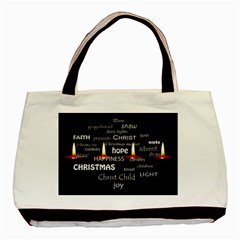 Candles Christmas Advent Light Basic Tote Bag by Celenk