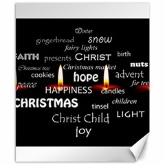 Candles Christmas Advent Light Canvas 8  X 10  by Celenk